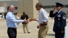 Obama Visits Flood-Damaged Louisiana in Show of Support