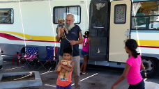 Campers, Full-Time RV Residents Await Next Move at Gate Fire Evacuation Shelter Site