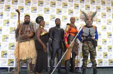 Friends Travel from Georgia to Pay Tribute to 'Black Panther' at Comic-Con