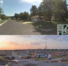 Google Street View Before and After Shows Tornado's True Destruction