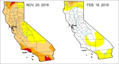 February Storms Wipe Out Drought for Most of California