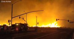 Sierra Fire Grows to 147 Acres in Rialto, Fontana Area