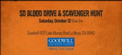 San Diego Blood Drive & Scavenger Hunt