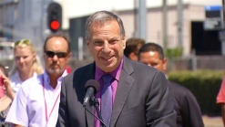 Mayor Filner Appears at Trolley Ceremony
