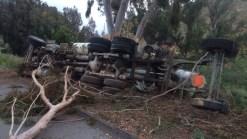 SR-52 Cement Truck Crash Delays Traffic