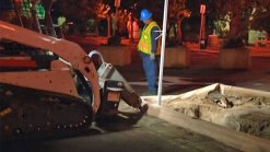 Crews Remove Plaza de Panama Parking Lot