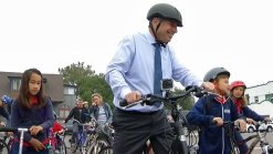 Mayor Bob Filner Rides a Bike