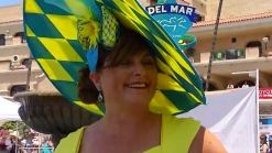 Bold Blue and Gold at Del Mar Hats Contest