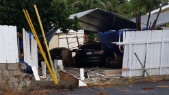 Car Slams Into Lakeside Yard, Again: CHP