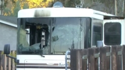 Fire Damages Motorhome in Lakeside