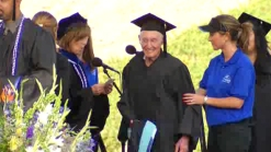 Students Cheer for 90-Year-Old College Graduate