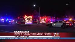 San Diego Police Pursuit Ends in Crash