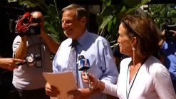 San Diego Mayor Bob Filner Apppears in Public