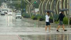 Rain Falls in San Diego
