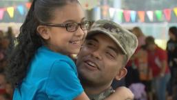 Soldier Surprises Daughter at Veterans Day Assembly