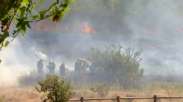 Brush Fire Behind Homes in 4S Ranch