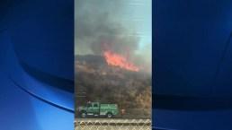 Fire Burns Structure, Brush in Alpine