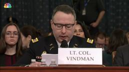 WATCH: Alexander Vindman's Opening Statement From Impeachment Hearing With Williams