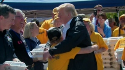 Boy Gets Hug From Trump at Florence Aid Event