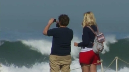 High Surf Batters San Diego Beaches