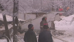 Cargo Plane Hits Kyrgyzstan Neighborhood