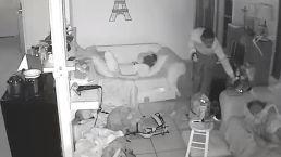 Burglar Sneaks Past Sleeping Kids