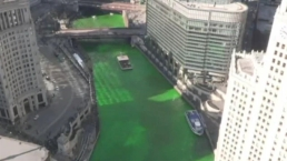 Timelapse: Chicago River Turns Green for St. Patrick's Day