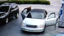 VIDEO: Woman Tries to Get Purse Back From Robber At Dania Beach Gas Station