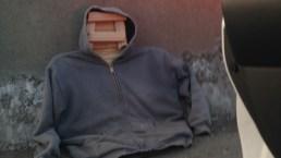 Weird News Photos: Man Uses Wooden Passenger in HOV Lane