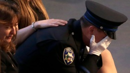 Mourners Say Goodbye at Santa Cruz Police Memorial