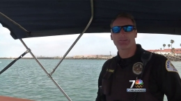 Harbor Officer Rescues Canoers in Oceanside