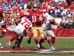 49er's vs Giants in Photos