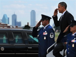 President Obama's Quick Trip to Dallas