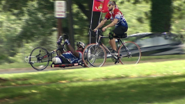 Marine With No Legs Completes Cross-Country Ride