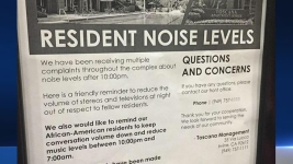 """Flier Singles Out African-Americans: """"Keep Conversation Volume Down"""""""