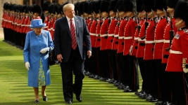 Protests, Diplomatic Backflips Mark Trump's Visit to England