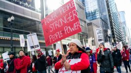 Chicago Strike Means Day Off for Some, Emergency for Others