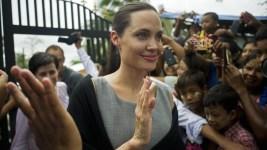 Angelina Jolie Visits Female Factory Workers in Myanmar