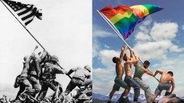 Gay Pride Adaptation of Iwo Jima Photo Draws Backlash