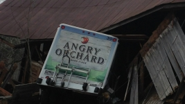 Stolen Cider Truck Crashes Into Barn After Police Chase