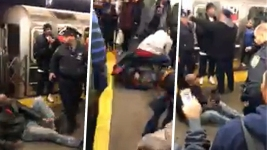 NY Subway Riders Beat Man After Mom Attacked on Platform: Police