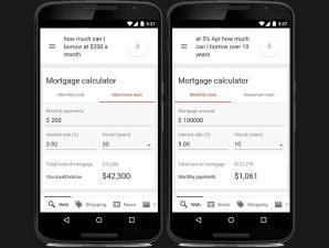 Google Now Calculates Your Mortgage