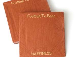 Football = Happiness Napkins