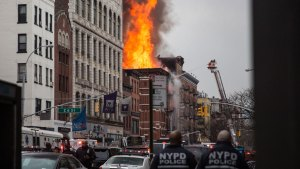 NY Building Collapses, Sparks Fire After Explosion