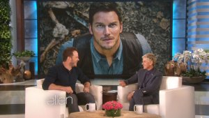 WATCH Chris Pratt Tells Ellen About Living in A Van in Maui