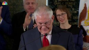 Tillerson Says Goodbye at State Department