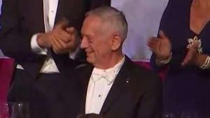 Watch: General Jim Mattis Cracks Trump Joke At Charity Dinner