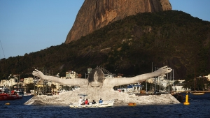 Olympic Artist In Residence Wows Rio Visitors
