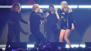 Taylor Swift, Ed Sheeran, Logic Shine at Jingle Ball Concert