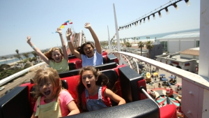 San Diego's Giant Dipper Roller Coaster